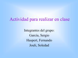 Actividad para dar clases