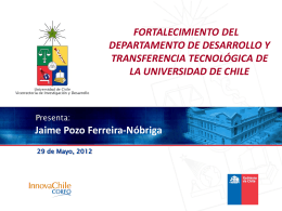 Diapositiva 1 - Universidad de Chile