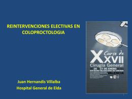 REINTERVENCIONES ELECTIVAS EN COLOPROCTOLOGIA