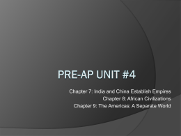 Pre-AP Unit #4