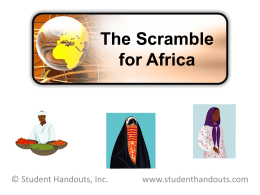 Imperialism and the Scramble for Africa PowerPoint