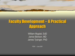 Faculty Development - Family Medicine Digital Resource …
