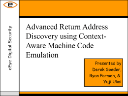 Advanced Return Address Discovery using Context