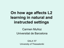 Asymmetries in age-effects in naturalistic and instructed
