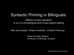 Syntactic sharing in bilinguals