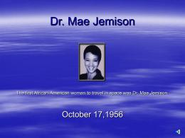 Dr. Mae Jemison - CarolynClay.com