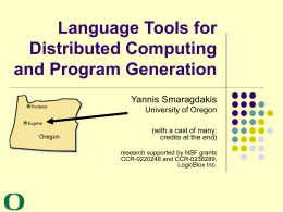 Language Tools for Distributed Computing and Program