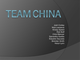 TEAM China - Texas Tech University