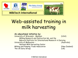 MilkTech-International Web-assisted training in milk
