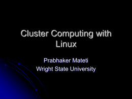 LinuxPCClusters - Wright State University