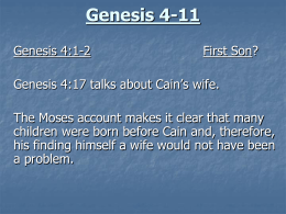 Genesis 4-11 - Brigham Young University–Idaho
