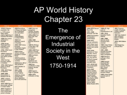 AP World History Chapter 22