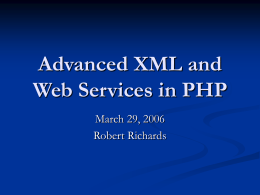Advanced XML and Web Services in PHP
