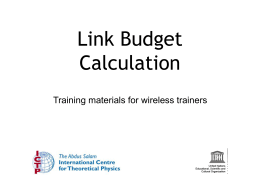 Link Budget Calculation - Wireless | T/ICT4D Lab