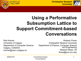 Using a Performative Subsumption Lattice to Support