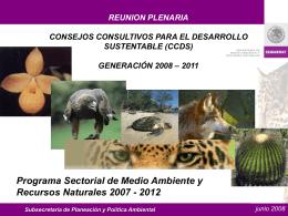 Programa Sectorial de Medio Ambiente y Recursos …
