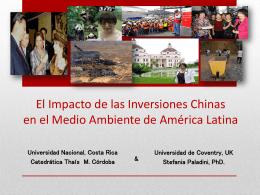 EL IMPACTO DE LAS INVERSIONES CHINAS EN EL MEDIO …