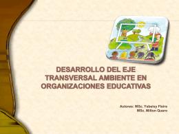 Desarrollo del eje transversal ambiente en organizaciones
