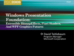 Windows Presentation Foundation: Extensible …