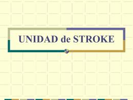 UNIDAD de STROKE TROMBOLISIS