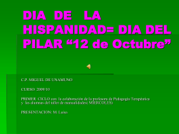 DIA DE LA HISPANIDAD= DIA DEL PILAR