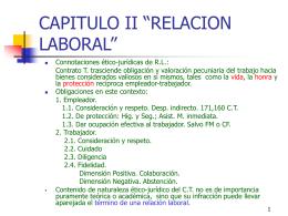 RELACION LABORAL