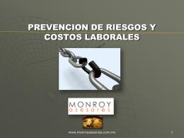 MATERIAL CURSO PREVENCION DE RIESGOS Y COSTOS …