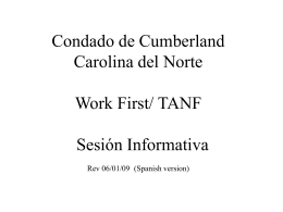 TANF INFORMATION SESSION