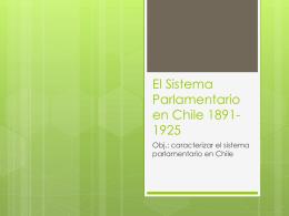 El Sistema Parlamentario en Chile