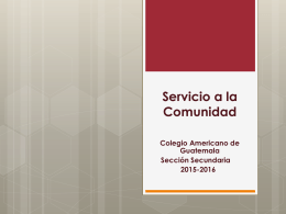Community Service Program