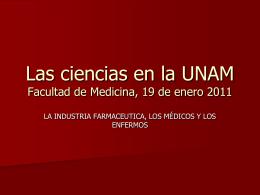 Las ciencias en la UNAM