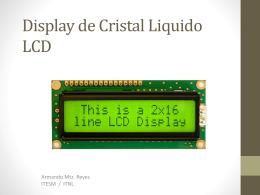 Display de Cristal Liquido LCD