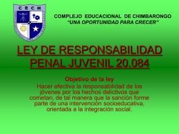 LEY DE RESPONSABILIDAD PENAL JUVENIL