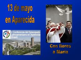 13 de mayo en Aparecida