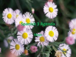 Spanish 3 Agenda
