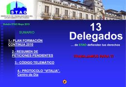 Diapositiva 1 - STAO - Sindicato de Trabajadores del