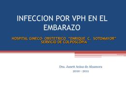 INFECCION POR HPV DURANTE EL EMBARAZO MAYO …