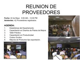 REUNION DE PROVEEDORES