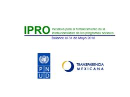 IPRO Iniciativa para el fortalecimiento de la