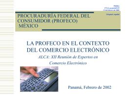 FTAA.ecom/inf/119 13 de febrero de 2002 / La PROFECO …