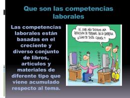 Competencias laborales.