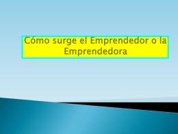 Para ser emprendedor