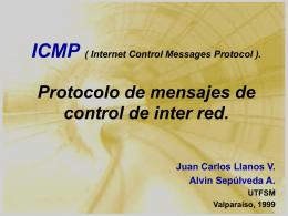 ICMP : Protocolo de mensajes de control de interred.