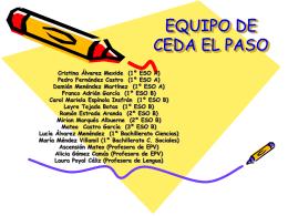 EQUIPO DE CEDA EL PASO