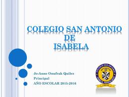 COLEGIO SAN ANTONIO DE ISABELA