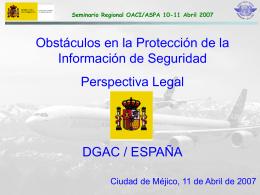 Seminario Regional OACI/ASPA 10-11 Abril 2007