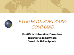 PATRON DE SOFTWARE: COMMAND