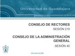 Diapositiva 1 - Inicio | VIII Consejo de Rectores
