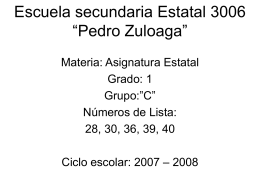 Paquime - ASIGNATURA ESTATAL CHIHUAHUA