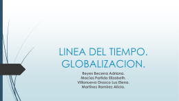 LINEA DEL TIEMPO. GLOBALIZACION.